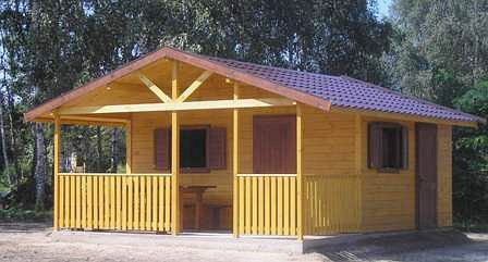 Wooden cabin for summer time below you can see an interior